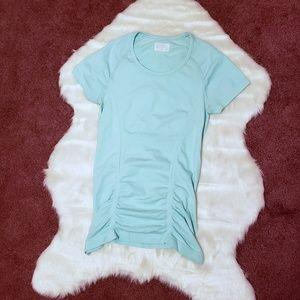 Athleta Fast Track T-Shirt Mint Green Teal Blue